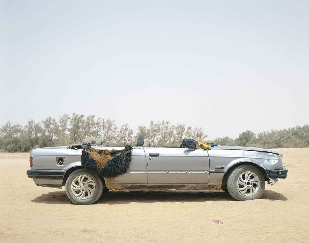 Philippe Dudouit, Ubari, Southern Libya 2, 2015. Tuareg tribal militia group vehicle. From the series,'THE DYNAMICS OF DUST' - The South Edition